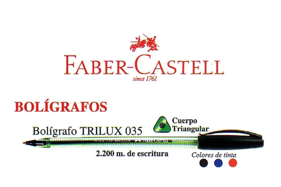 Bolígrafo Faber Castell Trilux Tapa 035