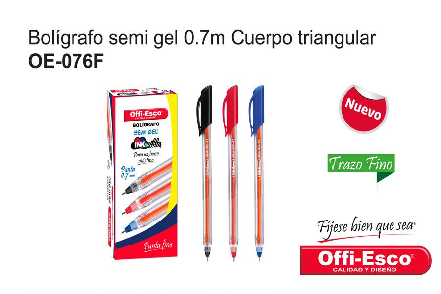 Bolígrafo Semi Gel Offiesco OE-076F-2