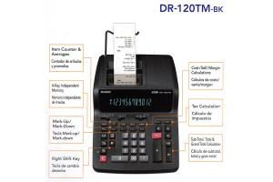 Calculadora Casio Rollo Dr-120tm